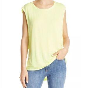 🆕Free People Sleeveless Neon Muscle Knit Tee NWT